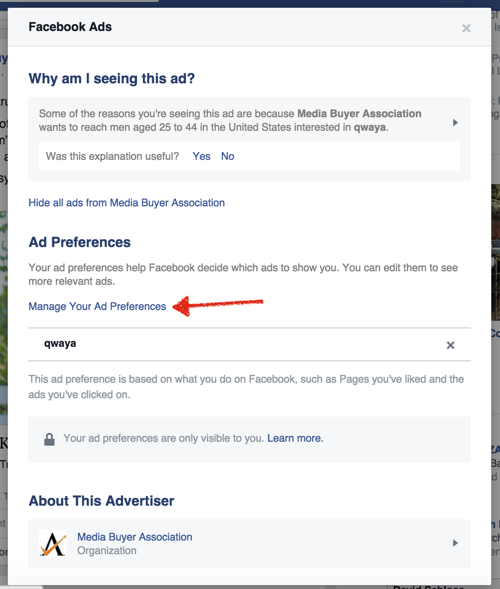 facebook targeting ads qwaya